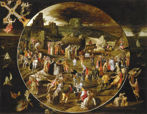 1 Haywain gillis mostaert after bosch vanite du monde 16th