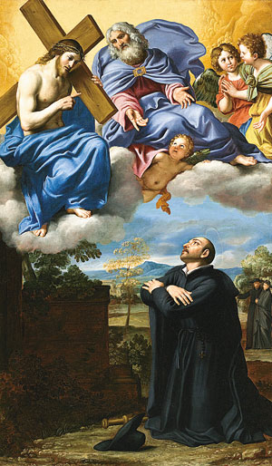 5 Saint Ignatius of Loyola's Vision of Christ and God the Father at La Storta LACMA Domenichino